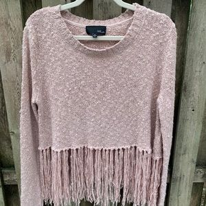 Gorgeous Fringed Knit Sweater/ Fate by Lfd